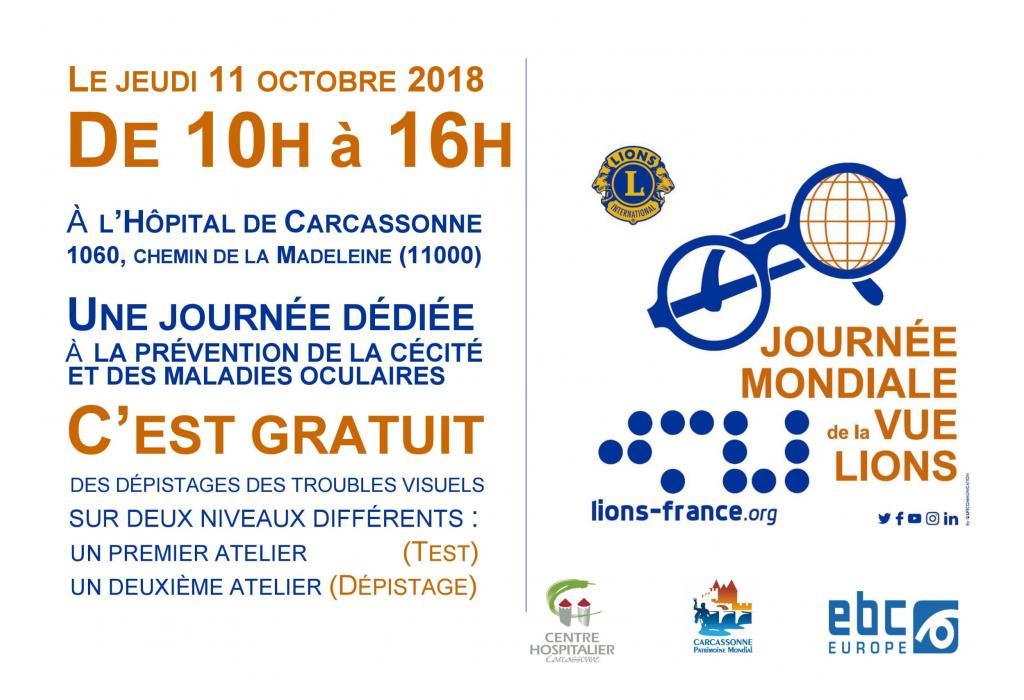 Journée Mondiale de la Vue   CH Carcassonne